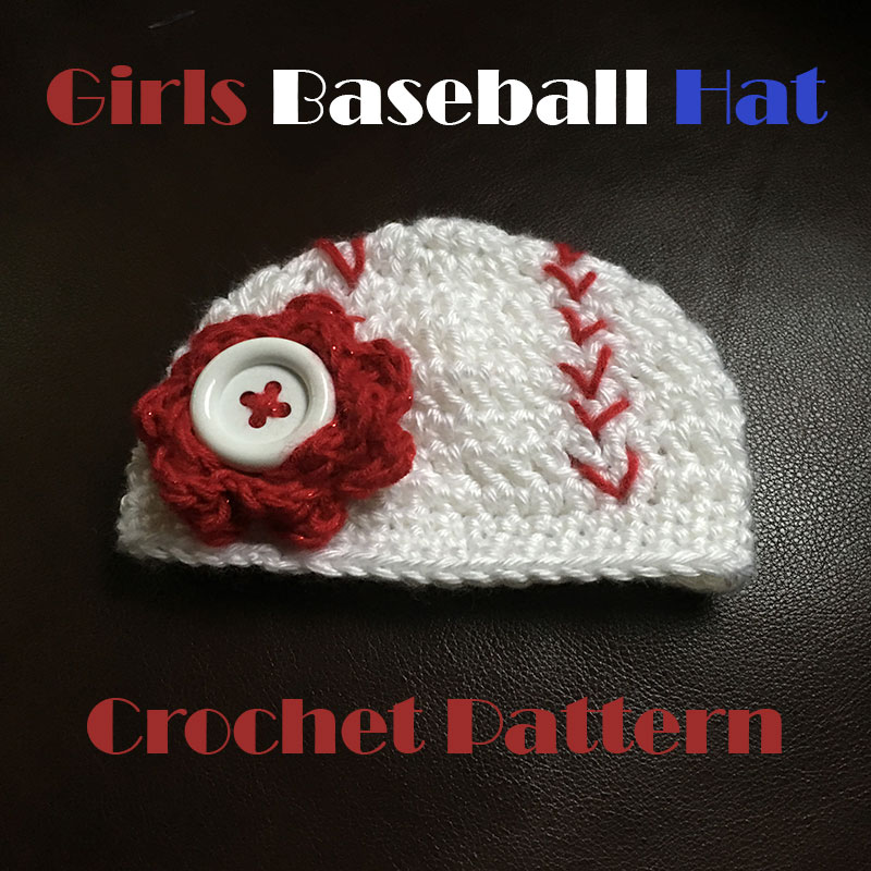 Girls Baseball Hat Crochet Pattern - Dreams and Caffeine