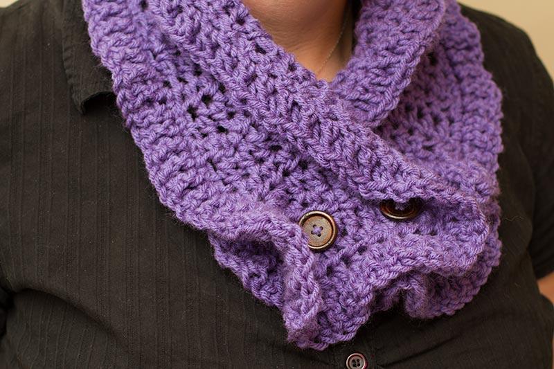 Fancy Crochet Cowl Final View