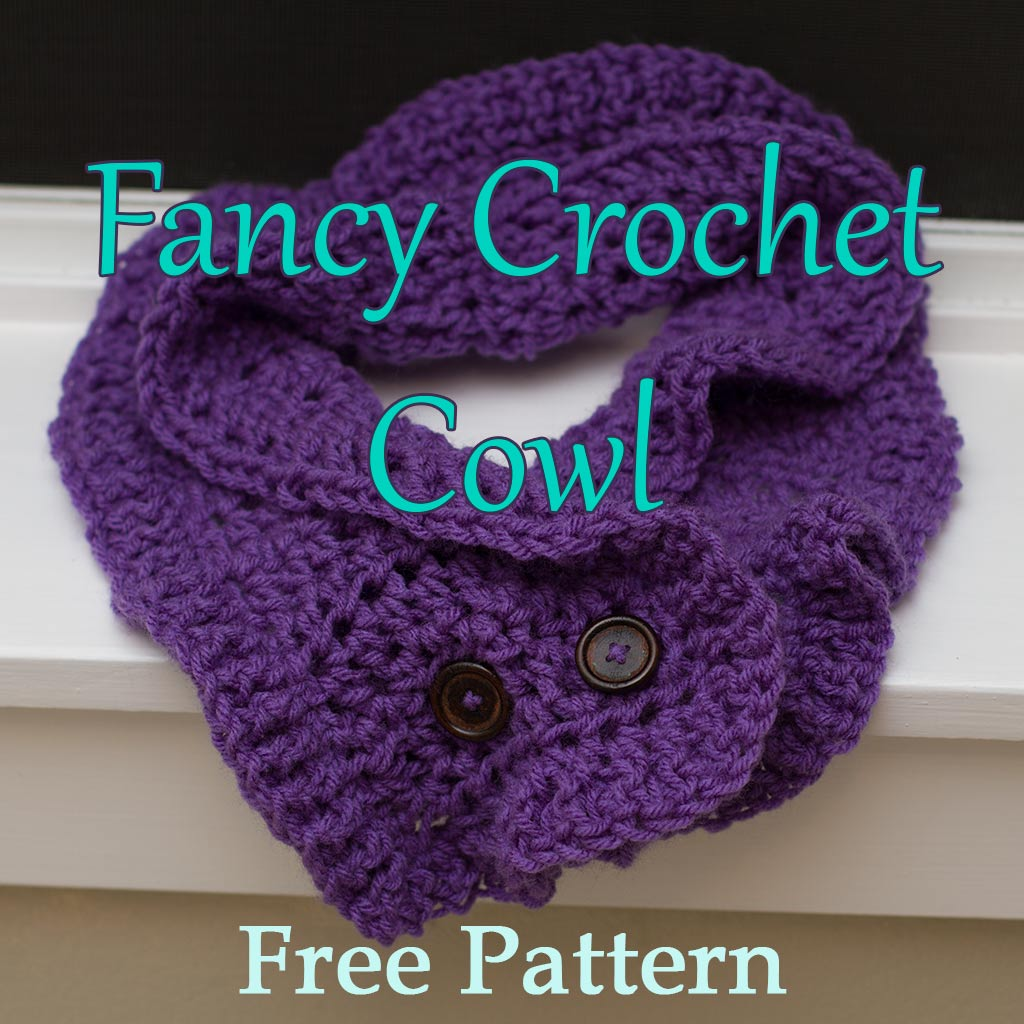 Fancy Crochet Cowl Free Pattern - Dreams and Caffeine
