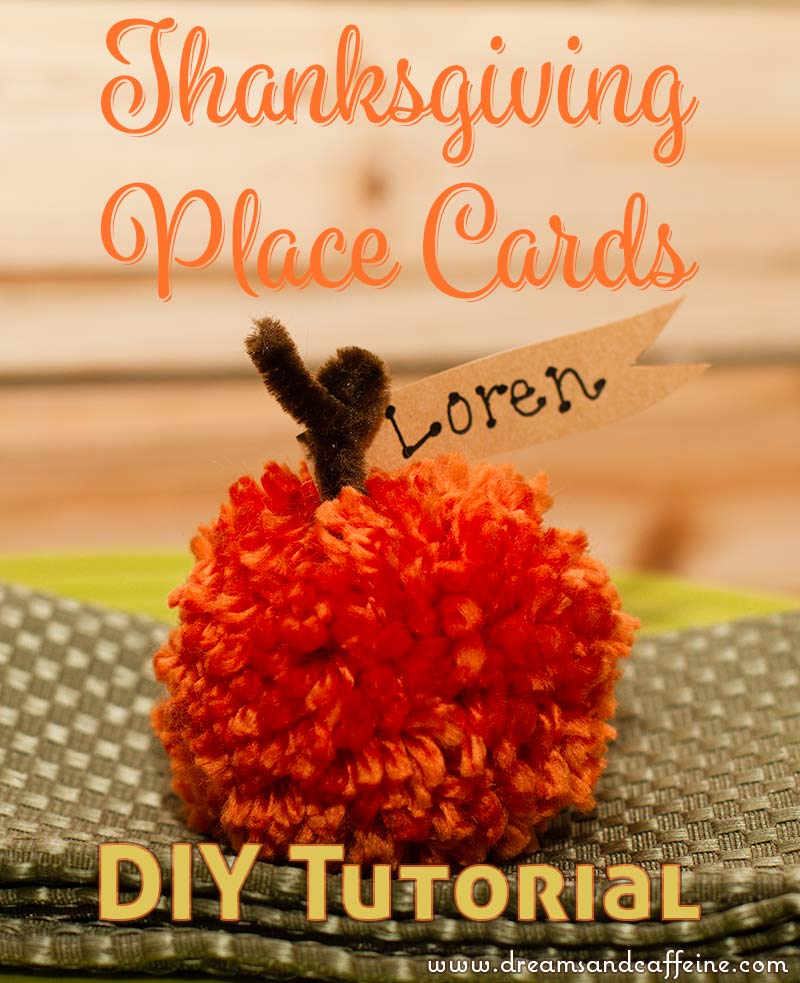 Pumpkin Thanksgiving Place Cards