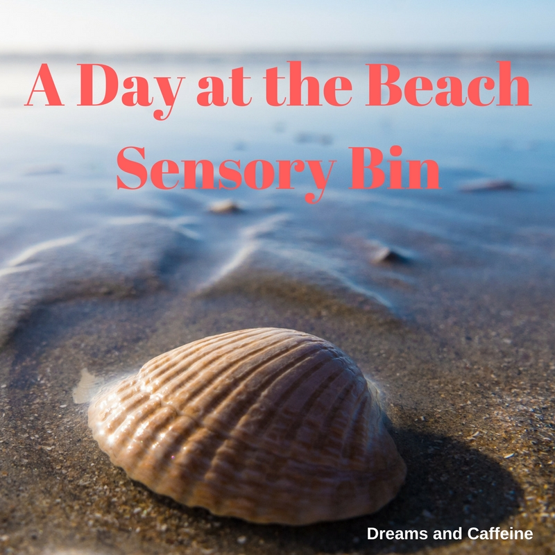 A Day at the Beach Sensory Bin