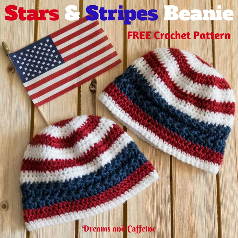 Stars and Stripes Crochet Beanie - FREE Pattern