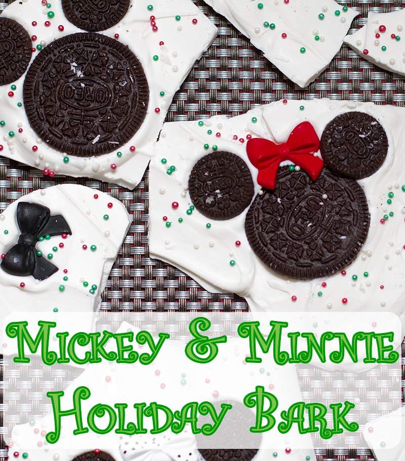Mickey & Minnie Mouse Holiday Bark - Dreams and Caffeine