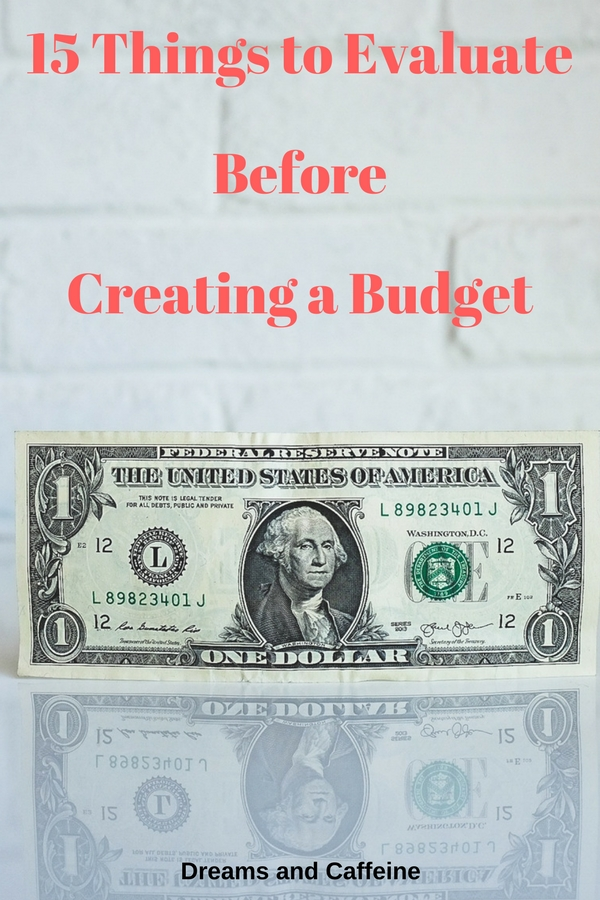 15 Things to Evaluate Before Creating a Budget